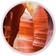 Upper Antelope Canyon 5 Round Beach Towel