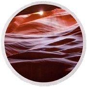 Upper Antelope Canyon 6 Round Beach Towel