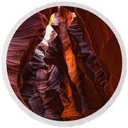 Upper Antelope Canyon, Arizona Round Beach Towel
