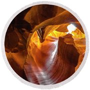 Upper Antelope Canyon Beauty Natural Round Beach Towel
