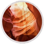 Upper Antelope Canyon Round Beach Towel
