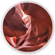 Upper Antelope Lights Round Beach Towel