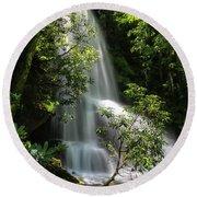 Upper Catawba Falls Round Beach Towel