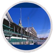 Upper Level Viewing Stands At Churchill Downs Round Beach Towel