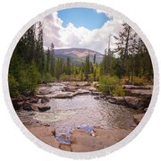 Upper Provo, Early Fall Round Beach Towel