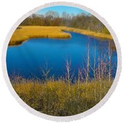 Upper Roxborough Reservoir Round Beach Towel