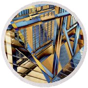 Urban Abstract 179 Round Beach Towel