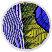 Urban Abstract 2 Round Beach Towel