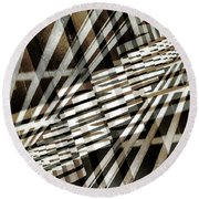 Urban Abstract 218 Round Beach Towel