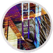 Urban Abstract 224 Round Beach Towel
