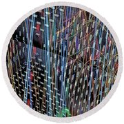 Urban Abstract 236 Round Beach Towel