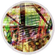 Urban Abstract 369 Round Beach Towel