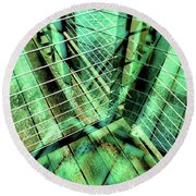 Urban Abstract 405 Round Beach Towel
