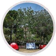 Urban Camping Round Beach Towel