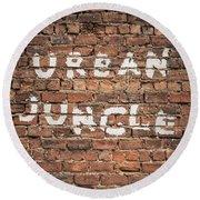 Urban Jungle Round Beach Towel