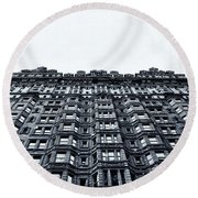 Urban Mountain Round Beach Towel