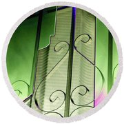 Urban Reflection 2 Round Beach Towel