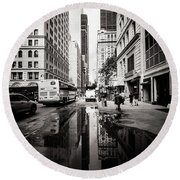 Urban Reflections Round Beach Towel