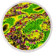 Urban Sprawl Round Beach Towel