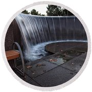 Urban Waterfall  Round Beach Towel