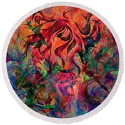 Urn Of The Fire Round Beach Towel