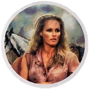 Ursula Andress Round Beach Towel