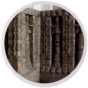 Uruk: Innin Temple Facade Round Beach Towel