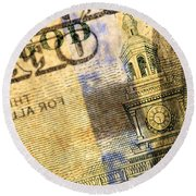 Us 100 Dollar Bill Security Features, 6 Round Beach Towel