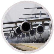 U.s. Air Force C-17 Globemaster IIis Round Beach Towel