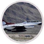 U.s. Air Force Thunderbird F-16 Round Beach Towel