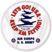 Us Army Air Corps - Ww2 Round Beach Towel