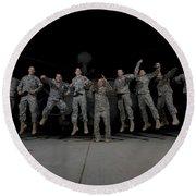 U.s. Army Pilots & Crew Chiefs Jump Round Beach Towel