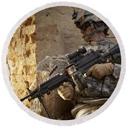 U.s. Army Ranger In Afghanistan Combat Round Beach Towel by Tom Weber