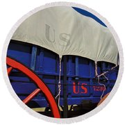 U S Army Supply Wagon Round Beach Towel