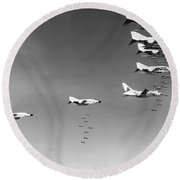 U.s. Bombing North Vietnam Round Beach Towel