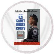 Us Cadet Nurse Corps - Ww2 Round Beach Towel