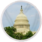 Us Capitol 2 Round Beach Towel