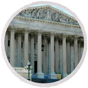 Us Capitol - Back Side Round Beach Towel