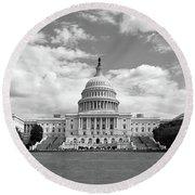 Us Capitol Building Washington Dc Round Beach Towel