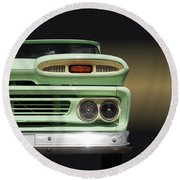 Us Classic Car Pickup 1960 Round Beach Towel