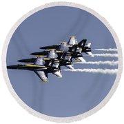 Us Navy Blue Angels Round Beach Towel