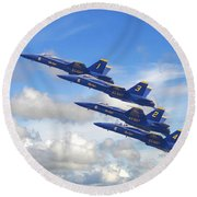 Us Navy - Blue Angels Round Beach Towel