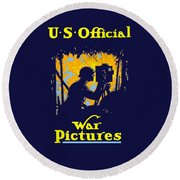 U.s. Official War Pictures Round Beach Towel