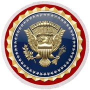 Presidential Service Badge - P S B Round Beach Towel
