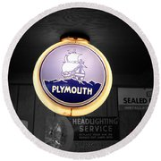 Us Route 66 Plymouth Sales Globe Sc Round Beach Towel