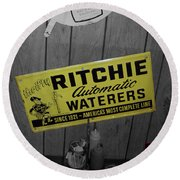 Us Route 66 Smaterjax Dwight Il Rare Waterers Signage Round Beach Towel