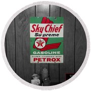 Us Route 66 Smaterjax Dwight Il Sky Chief Supreme Signage Round Beach Towel