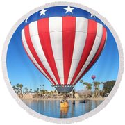 Usa Balloon Round Beach Towel