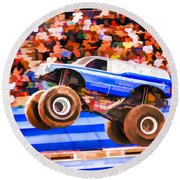 Usaf Afterburner Monster Jam Round Beach Towel