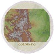 Usgs Map Of Colorado Round Beach Towel